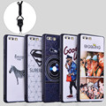 For Huawei Honor 8 Cases & Strap Anti-Knock Relief Scrub Printer Protector Cases 3D 360 Degrees Shell Cover For Huawei Honor 8
