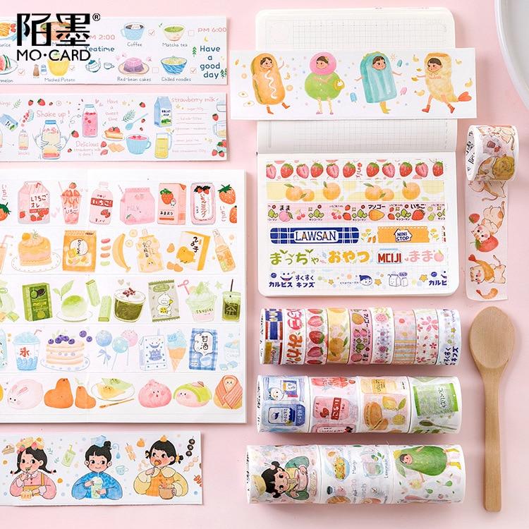 Paper Stickers Masking-Tapes Scrapbooking Washi Strawberry Japanese Decorative Adhesive