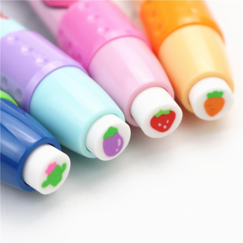 Mignon étudiant gomme fruit motif presse caoutchouc gomme nouvelle école créative apprentissage papeterie 1