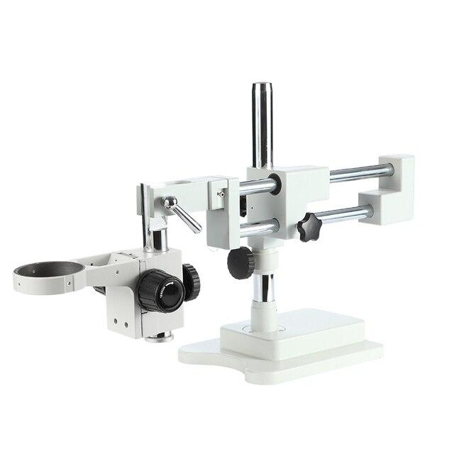 Haute Qualité Double Boom Stand Microscope Scène Trinoculaire Stéréo Microscope Base Binoculaire Focuse Bras Accessoires Livraison Gratuite