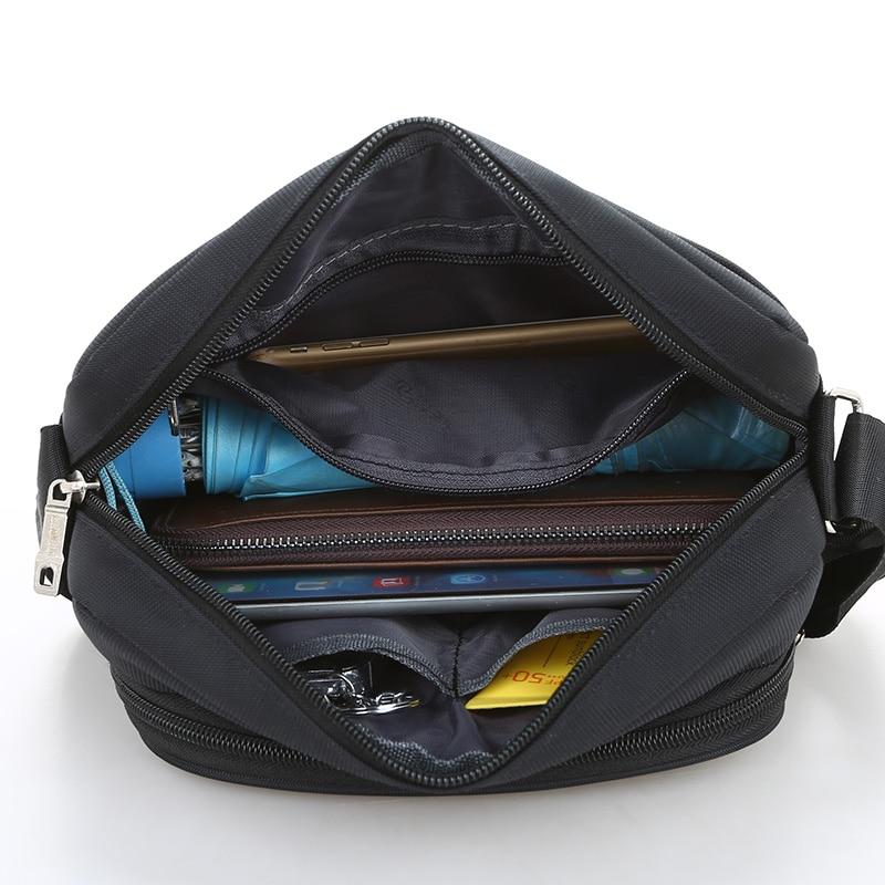 Black Business Messenger Bag Contracted Joker Unisex Crossbody Bag More Zippers Large Capacity Flap Bag Preppy Style Leisure Bag 6