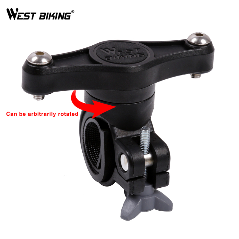 WEST BIKING 360 Degree Rotation Bicycle Bottles Cage Holder Adapter Bike Handlebar Bicycle Seatpost Water Bottles Mount Adapter motorcycle bike handlebar seatpost pole mount