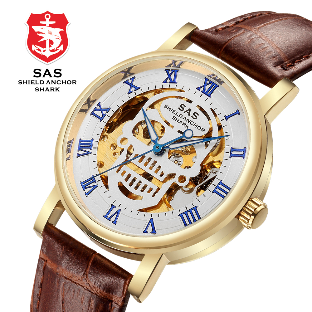 Watch Men Skeleton Automatic Mechanical Watch Gold Skeleton Man's Watch Mens Watches Top Brand Luxury Clock Montre Homme Relojes