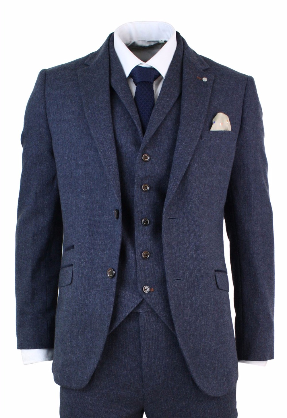 Navy Tweed Suit Promotion-Shop for Promotional Navy Tweed Suit on ...