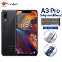 """UMIDIGI A3 Pro Global Band 5.7 """"19:9 smartphone plein écran 3GB + 32GB Quad core Android 8.1 12MP + 5MP visage déverrouiller double téléphone portable 4G"""