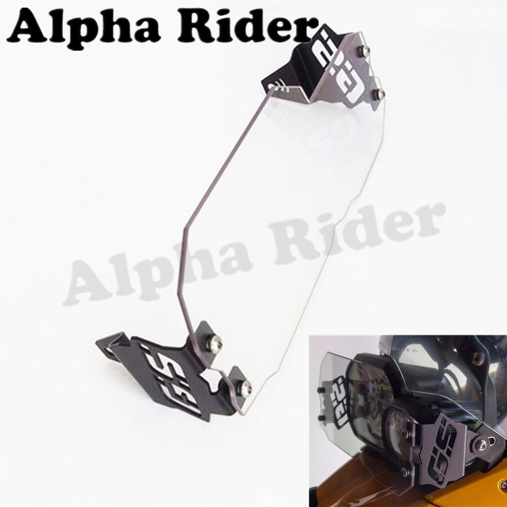 Clear Headlight Guard Motorcycle Front Lamp Head Light Protector Cover for BMW F650GS (Twin) F700GS F800GS GS650 GS700 GS800 ADV