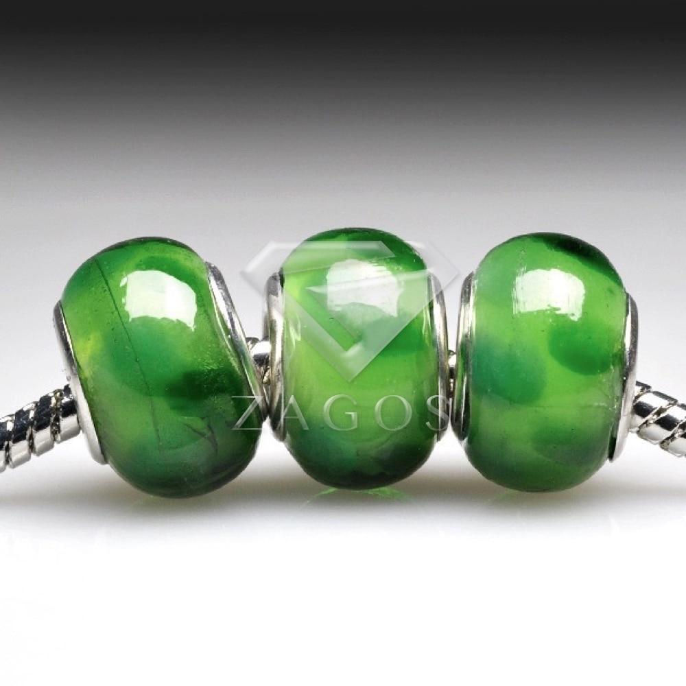 5Pcs Mixed Murano Lampwork Glass Charm Big Hole Bead Fit European Bracelet