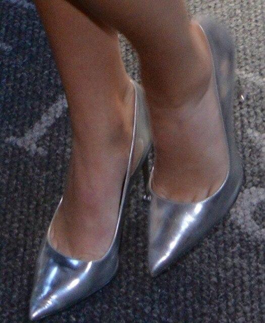 57f253edad Nuevo 2015 primera marca mujeres de plata de la alta Stilettos tacones  altos verano otoño para