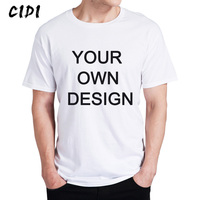 Your Own Design Logo Picture White Custom T Shirt Plus Size T Shirt Men Clothing
