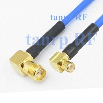 15 см коаксиальный Sexi гибкий синий жакет Соединительный кабель RG405 6in SMA женский MCX мужской и правый угол RF 3G 4G маршрутизатор WIFI
