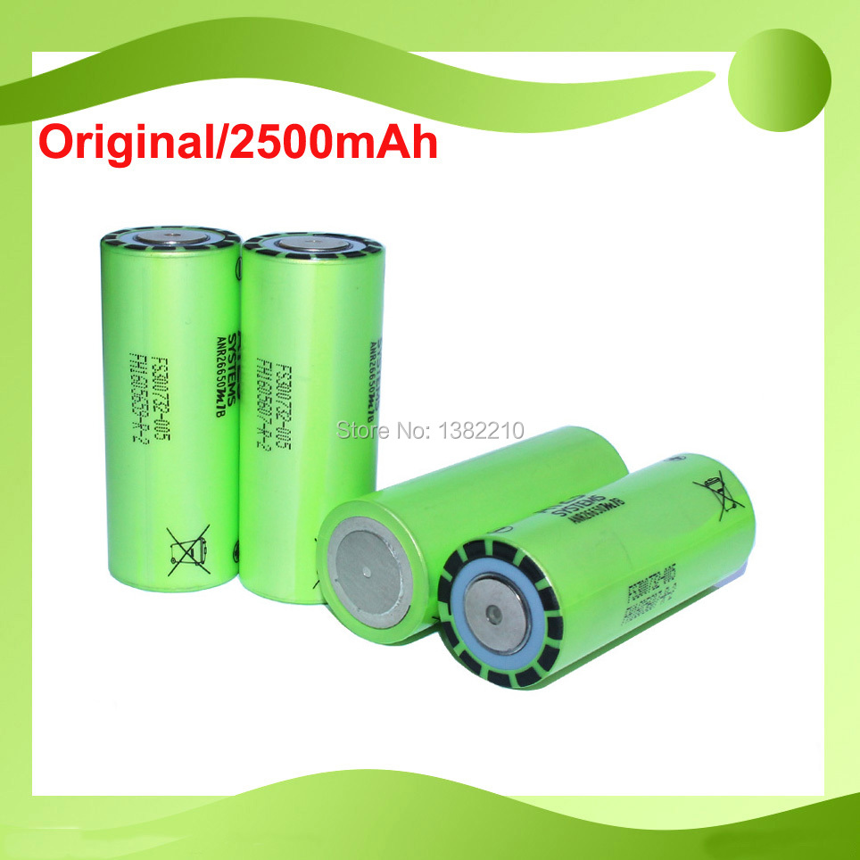 4 PCS/Lot D'origine Un Grade 3.2 V LiFePO4 ANR26650M1B 26650 2500 mah 70A 120A Continu Impulsion Batterie De Démarrage De Voiture