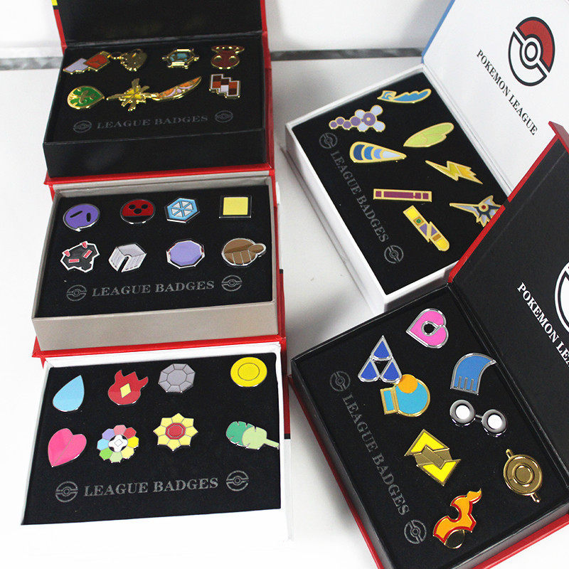Anime pokemon Badge Brooch Small font b Figures b font Toy Zinic Alloy Brooch Action font