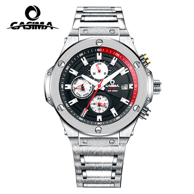 Relogio Masculino CASIMA Brand Luxury Watch Men <font><b>100M</b></font> Waterproof Luminous Sport Quartz Wrist Watches Clock Saat Reloj Hombre 2020 image