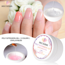 MEET ACROSS 15ml Quick Building Gel Polish Acrylic Poly Extension Gel Clear Pink white Nail Tips Builder UV Gel Tips cecily keim crochet visual quick tips