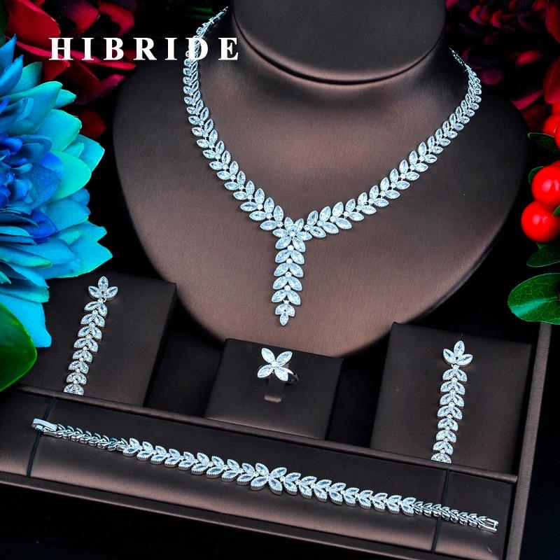 HIBRIDE nouveau Design de luxe couleur or nuptiale Dubai ensembles de bijoux pour les femmes accessoires de mariage cadeaux de fête N-738