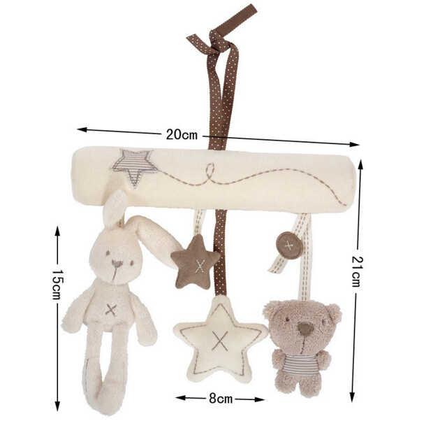 Милые детские погремушки подвесная игрушка для детской коляски кролик висячая погремушка кролик плюшевый музыка висячая кровать плюшевый кролик подвесные игрушки подарки
