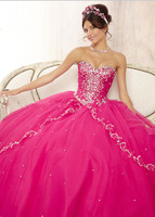New Unique 2016 Pageant Coral Quinceanera Dresses 15 Years Layers Tulle Sweethetr Sparkling Beaded Party Ball