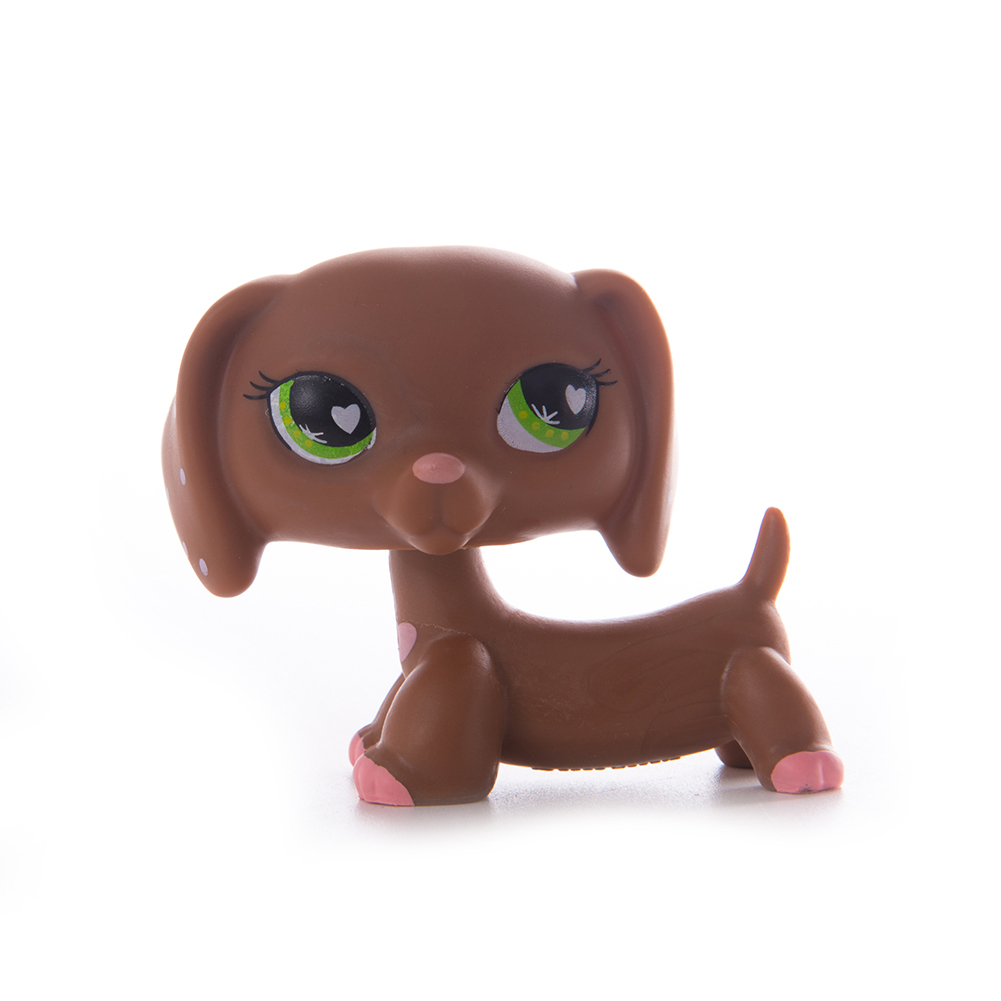 LPS Pet Shop Toys Classic Cocker Spaniel Great Dane Eye Dogs Collection Stand LPS Cosplay Mini Action Figure Children Gifts in Action Toy Figures from Toys Hobbies