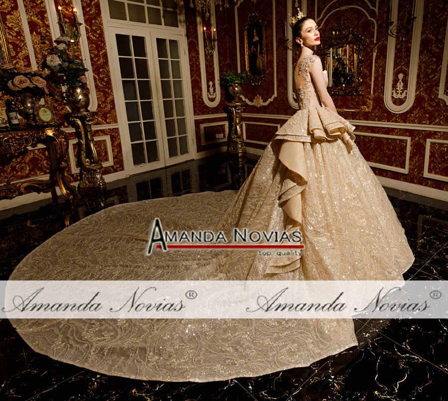 Robe de mariee robe de mariée abiye robe de mariée luxe amanda novias marque
