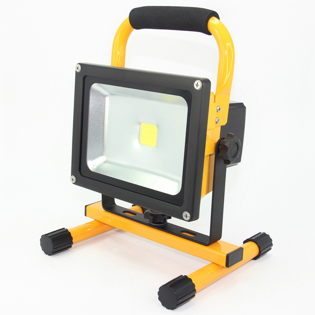 Portable 20w Led Flood Light Waterproof Rechargeable Battery Spotlights Floodlight Work Emergency For Outdoor Camping