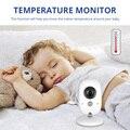 FUERS VB603 Портативный Беспроводной Детский монитор ночного видения  контроль температуры  поддержка няни  8 языков с микрофоном