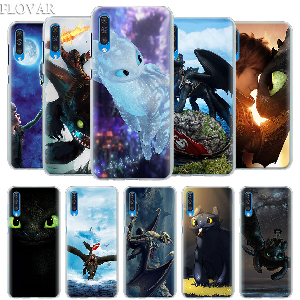 Dragon-Case-Cover Coque Toothless Train Samsung Galaxy Your A50 A8 Plus For A30/A40/A50/..
