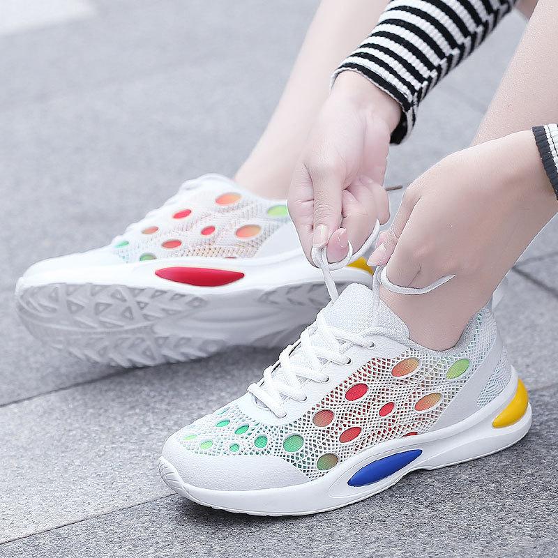 Tenis Feminino Casual white Nouveau Femme Chaussures Coréen White Designer Plate forme Femmes Blanc Sneakers black Panier Noir 2 2018 Printemps RqgP7wvv