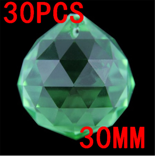 30pcs 30mm Crystal Prism Suncatcher Chandelier Hanging Faceted Glass Ball Ornament Chandelier Ball Window Charms Suncatcher