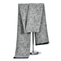 2014 New Style Autumn And Winter Unisex Wool Silver Gray Solid Color Rectangle Scarf Business Tassels