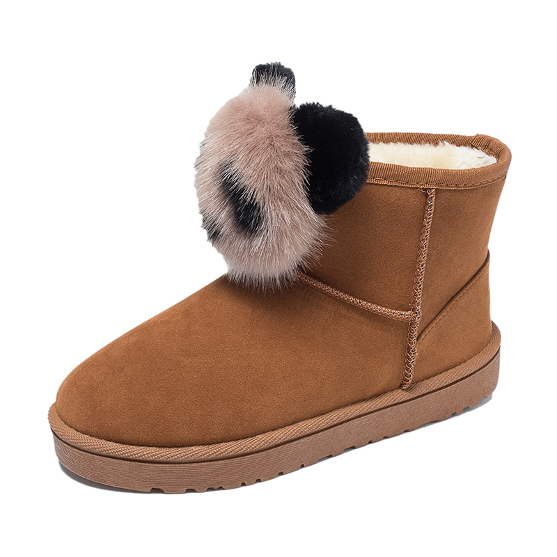 De Zapatos Estilo Moda Botas Mujer Mujer Nuevo Para Panda Más China Nieve Encantadores La Invierno Senouer Terciopelo Algodón dqxF1