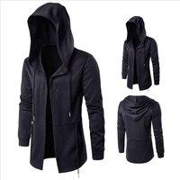 Cloak Wizard Men Windbreaker Autumn Winter Fashion Slim Jacket Dark system Men Cape Hooded Casual Jackets Men long Coat Outwear