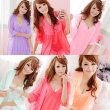 new 2016 women robe women pajama set twinset sleepwear maternity clothes sleapwear sweet nightgown
