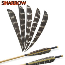 30/50pcs 5 Archery Natural Feather Arrow DIY Fletches Turkey Fletching Right Wings Feathers Hunting Accessories