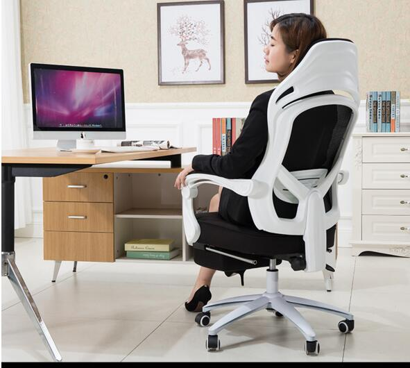 Computer chair mesh swivel chair home boss seat belt office chair gaming chair. the silver chair