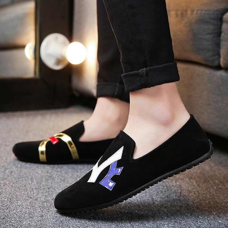 Shoes Men's Shoes Systematic Mens Beans Shoes Korean Version Casual Shoes One-legged Lazy Shoes Mens Shoes Zapatos De Hombre