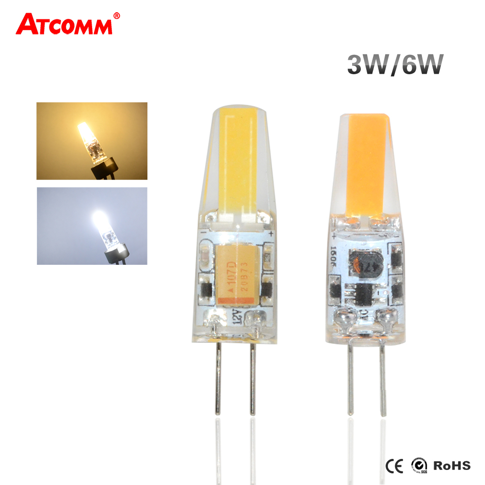 1-10X G4 LED COB AC DC 12V 5W 6W Dimmable Mini Bulbs Light Replace Halogen Lamps