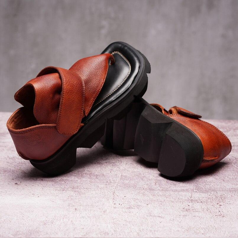 Sandales d'été tongs en cuir chaussures femmes sandales décontracté confortable clip toe femme sandales femmes chaussures de sport - 5