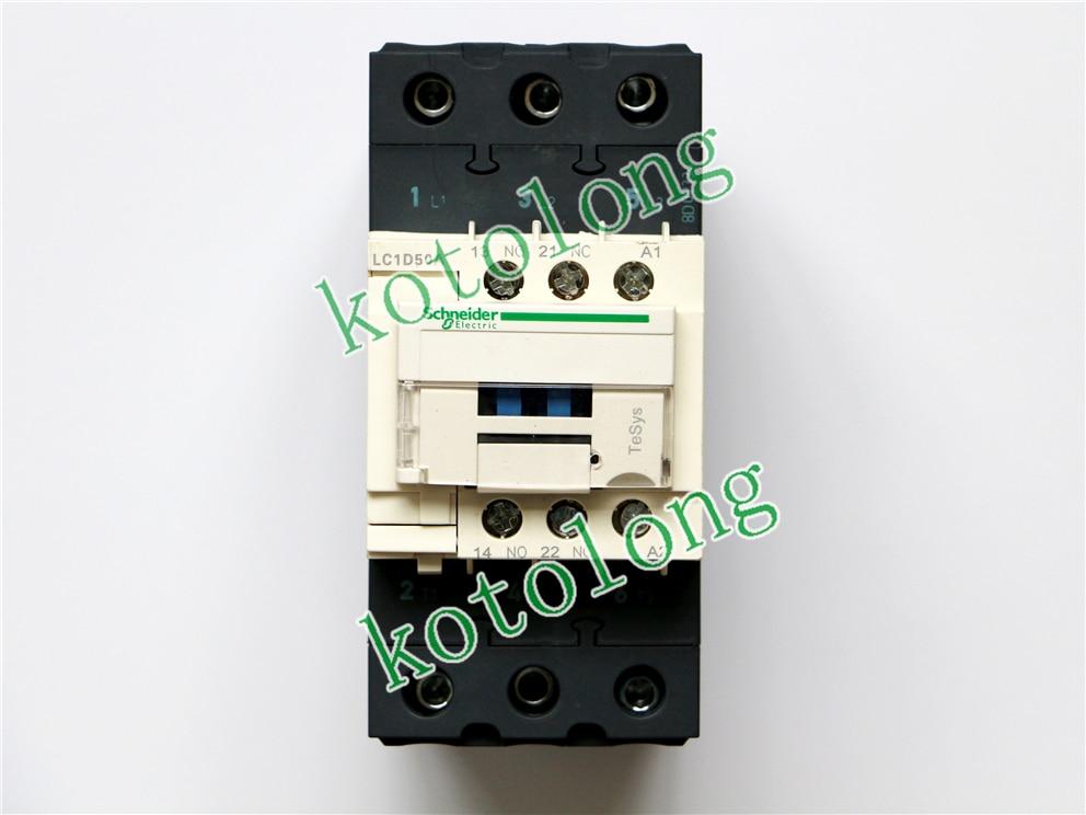 AC Contactor LC1D50A LC1-D50A LC1D50AK7 100V LC1D50AL7 200V LC1D50ALE7 208V LC1D50AM7 220V lc1d series contactor lc1d25 lc1d25kd 100v lc1d25ld 200v lc1d25md 220v lc1d25nd 60v lc1d25pd 155v lc1d25qd 174v lc1d25zd 20v dc