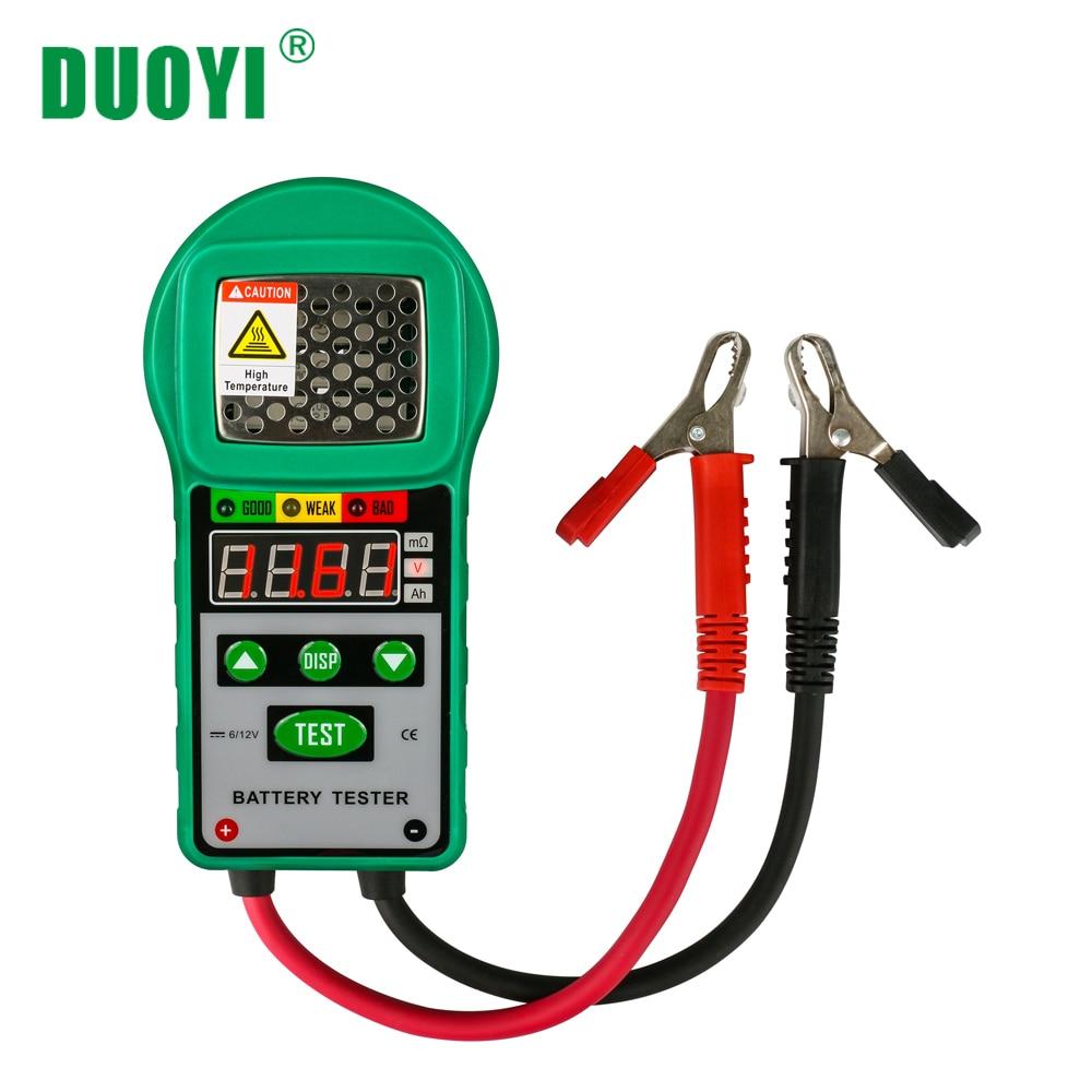 DUOYI DY225 автомобиля анализатор тестер для батарей 6 в 12 DC автомобильной сопротивление тесты авто для Электрический батарея энергии хранения м...