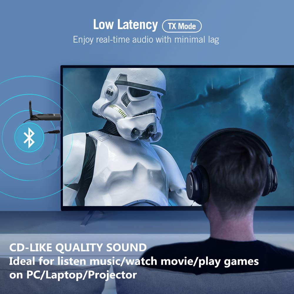 AptX Low Latency Long Range Bluetooth 5 0 Transmitter Audio