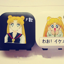 LIUSVENTINA DIY Acrylic Cute Sailor Moon Contact Lens Case W