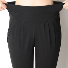 women summer cropped pants capris pleated casual pa