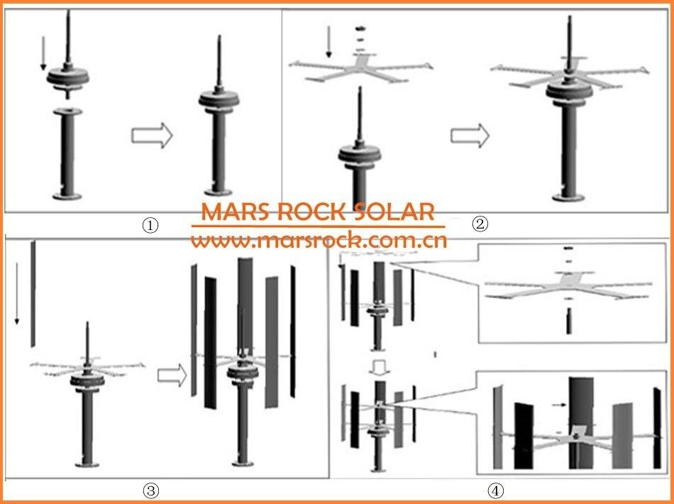 de turbina eólica 260r m 50w 12v
