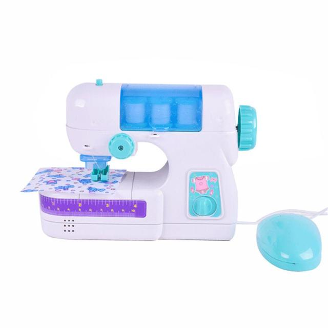 Furniture Toys Electric Sewing Studio Machine Sew Intelligence Activities  Toy For Girls Kids D40+