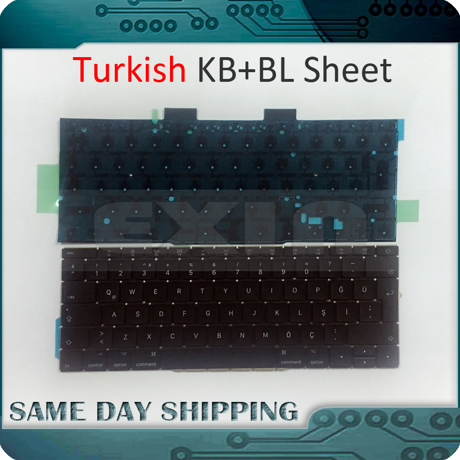 2016 2017 New for Macbook Pro 13.3 Retina A1708 Turkish Turkey Keyboard with Backlit Backlight EMC 2978 EMC 3164 MLL42 MPXQ2 new topcase with tr turkish turkey keyboard for macbook air 11 6 a1465 2013 2015 years