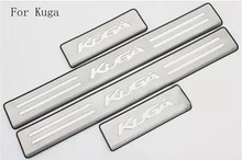 цена на Car accessories Stainless Steel Side Door Scuff Plate Door Sill Trim Fit For Ford Kuga Escape 2012- 2017 Car styling