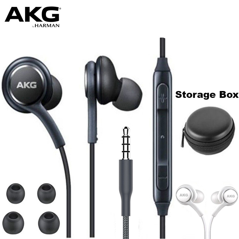 AKG IG955 Earphones 3.5mm In-ear Wired Mic Volume Control Headset for huawei xiaomi Samsung Galaxy S10 S9 S8 S7 S6 S5 Smartphone(China)