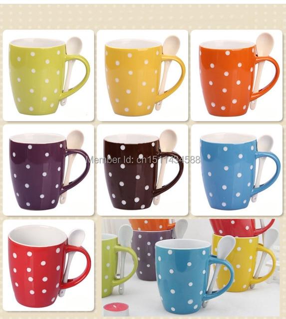 Popular Ceramic Coffee Mug With Polka Dot-in Mugs from Home & Garden on  VB29