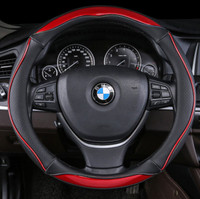 14 9inch Genuine Leather Steering Wheel Cover For Bmw Benz Audi Toyota Kia Etc 38cm