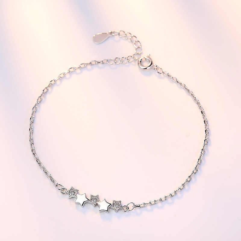 XIYANIKE New Arrival wysokiej jakości biżuterii ze srebra próby 925 moda Micro mozaika w pięciokątnym minibasenie: kobiet bransoletka dla kobiet pulseira VBS4113